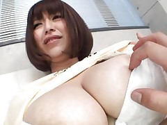 She's pretty breasty and likes giving her big boobs for a good suck. Marie likes the attention this babe receives and this babe deserves a lot more then some nipple sucking. Watch them and as things get hotter. Maybe this Japanese bitch will end up with semen all over her breasts