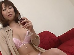 Pretty Oriental charms with wild blowbang to get deep anal